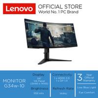 "Lenovo Monitor Gaming G34w-10 34"" Wide Quad HD VA Panel 144hz"