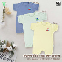 ARUCHI Romper Bayi - Baju Kodok Segiempat 3-12 Bulan (PASTEL BOY)