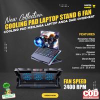 Coolingpad Cooler Gaming Cooling Pad Laptop Notebook 6 Fan Kipas