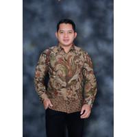 kemeja batik pria lengan panjang Modern Jumbo / baju batik pria