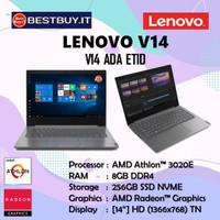 LAPTOP LENOVO V14 ADA ETID AMD ATHLON 3020E DDR4 8GB 256GB SSD 14HD