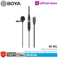 BOYA BY-M2 Lavalier Clip On Mic Microphone for iPhone iOS Devices