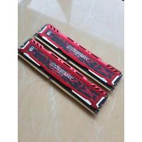 Ram DDR4 2x8gb 16gb Crucial Ballistix RED 2666Mhz CL16