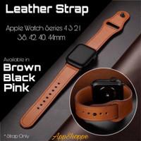 Apple Watch Leather Strap Kulit Asli Series 4 3 2 1 Size 38 42 40 44mm