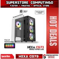Fantech HEXA CG73 Tempered Glass ATX Gaming Case
