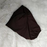 Ciput Jersey Kerut / Ciput Risty Tagor / Hana Jersey - kofee