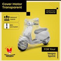 cover motor Vespa sprint & vespa clasic list orange - bening
