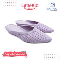 Sepatu Wanita Slip On Heels Wedges Sandal Kasual Wanita DTA Portolady