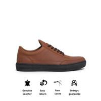 Otiv Athen Brown - Sepatu Sneakers Kulit