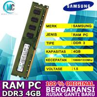 RAM PC logdim 4GB DDR3 samsung PC10600 1333Mhz