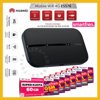 Modem Smartfren MiFi Andromax Huawei E5576 Bukan M3Y M3Z M3S M5 M6 M6x - E5576 6GB ION
