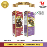 UniTutie Paket Duo - Rendang Daging Sapi 250 g & Paru 250 g