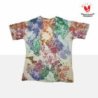 T-shirt Batik Cap Abstrak   Kaos Batik Full Color   M - XXXL