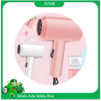 Hair Dryer Alat Pengering Rambut Mini Low Watt 2 Kecepatan - Pink