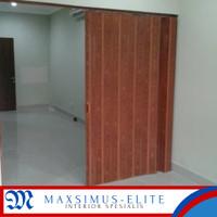 pvc folding door pintu penyekat ruangan dari plastik berkualitas