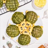 Roti Sobek Kawaii Turtle Matcha Butter Cheese Delicio