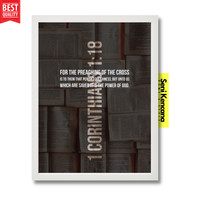 Salib Yesus Ayat Alkitab Kristen Wall Decor Frame Kayu A4+JUMBO SK259G