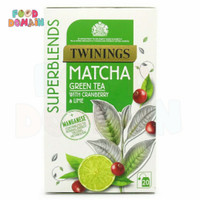 Twinings Tea Superblends Matcha Green Tea with Cranberry Lime 20 TBags