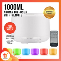 Aromatherapy Diffuser Essential Oil 7 LED Remote 1000ML - Remote