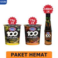 GAGA 100 Extra Pedas Saus Sambal Jalapeno 135ml, 2 pcs Mie Cup (GG86)