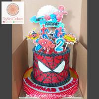 Spiderman Sarang Topper Cake Birthday / Hiasan Kue Ulang Tahun