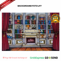 Background Backdrop Latar/Layar Foto Wisuda LP7 Gorden Merah 3x2.5m