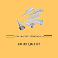 cetakan kue cumcum / cornetto / cornetto besar dan kecil - C (2,5cm)