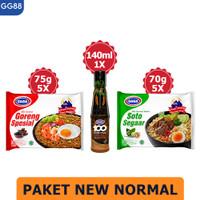 GAGA 100 Extra Pedas Saus Sambal Jalapeno 135ml, GAGA Mie 10pcs (GG88)