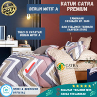 Sprei Bad Cover set 100x200, 120x200 160x200 180x200 Katun Catra