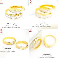 Cincin tunangan emas asli 700 70% 16k couple ring nikah putih 3 gram g