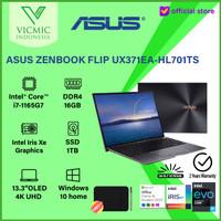 ASUS ZENBOOK FLIP S UX371EA I7-1165G7 IrisXe 16GB 1TB SSD UHD W10 OHS