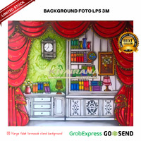 Background Backdrop Latar/Layar Studio Foto Wisuda LP5 Merah 3x2.5m