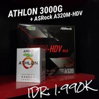 AMD ATHLON 3000G + A320M