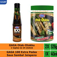 GAGA 100 Extra Pedas Saus Sambal Jalapeno 135ml, Otak-otakku (GG89)