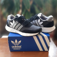 Sepatu Anak Sekolah Adidas tabung black white R05 - 32
