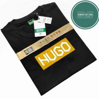 PROMO T-Shirt HUGO Distro Pria Keren l Kaos Pria Original - Hitam, M