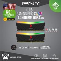 PNY LONGDIMM RGB BLACK 16GB KIT ( 8GBx2PCS ) DDR4 3600Mhz