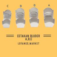 Cetakan Bluder / Loyang Bluder / Cetakan Roti Bluder - C 4cm - C 4cm
