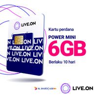 Kartu Perdana Live.On XL Power Mini 6GB (10 hari)