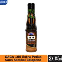 GAGA 100 Extra Pedas Saus Sambal Jalapeno 135ml 3 botol (GG82)