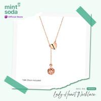 Mint Soda Korea - Kalung Emas 18K / 750 - Lady Hearts Necklace I