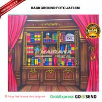 Background Backdrop Latar Foto Rak Wisuda Gorden merah WS-J1 3x2.5m