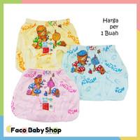 B269 Celana Dalam Pop Bayi CD Baby Sablon Warna Gambar Lucu Bear SNI