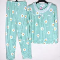 Baju Tidur Wanita Piyama Setelan Import Motif Renda PP - Flower