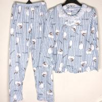 Baju Tidur Wanita Piyama Setelan Import Motif Renda PP - Rabbit