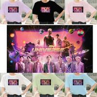 Kaos BTS x Coldplay My Universe Oversize Jumbo Wanita Import Korea