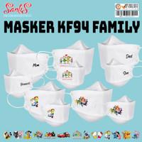 Masker KF 94/ Masker KF 94 Anak Karakter / Masker KF 94 Family Package