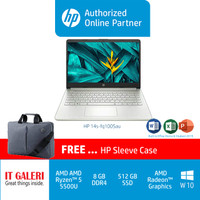 HP 14S-fq1005au&14s-fq1006au (R5-5500U/8GB/512GB/RV8/14.0/WIN10)SILVER