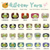 GLITTER YARN - FANCY YARN - 30gr - BENANG RAJUT GLITTER FANCY