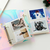 Album Foto Polaroid Instax Mini 2R Holographic Transparan 100 Pockets